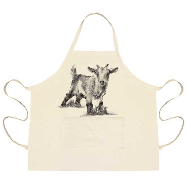 Baby Goat #3 Apron with Pockets