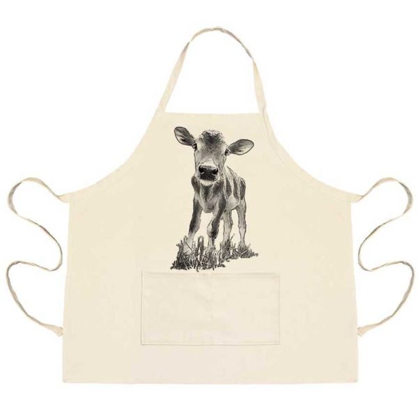 "Baby Cow ""Cowboy"" Apron with Pockets"