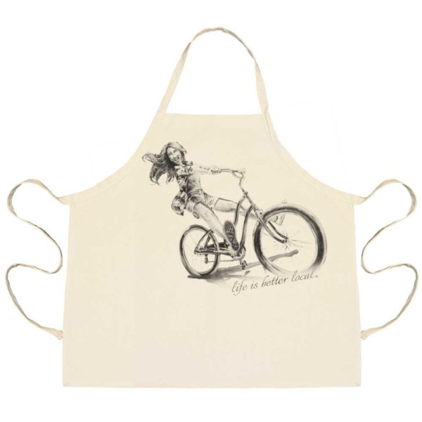 Girl on Bike Apron
