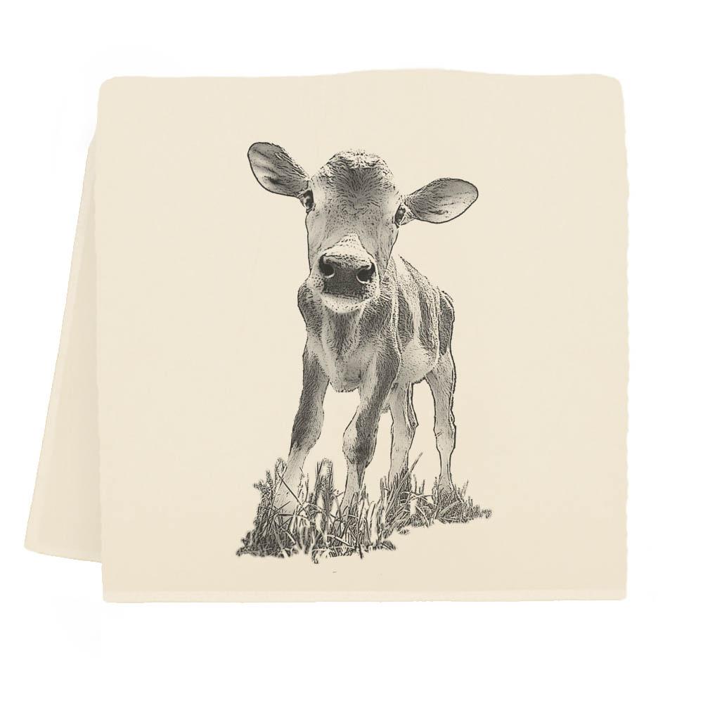 """Baby Cow """"Cowboy"""" Tea Towel"""