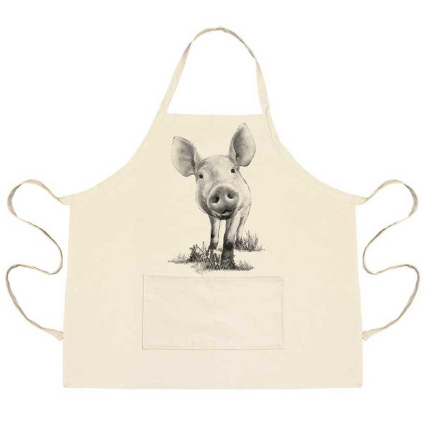 Piglet #3 Apron with Pockets