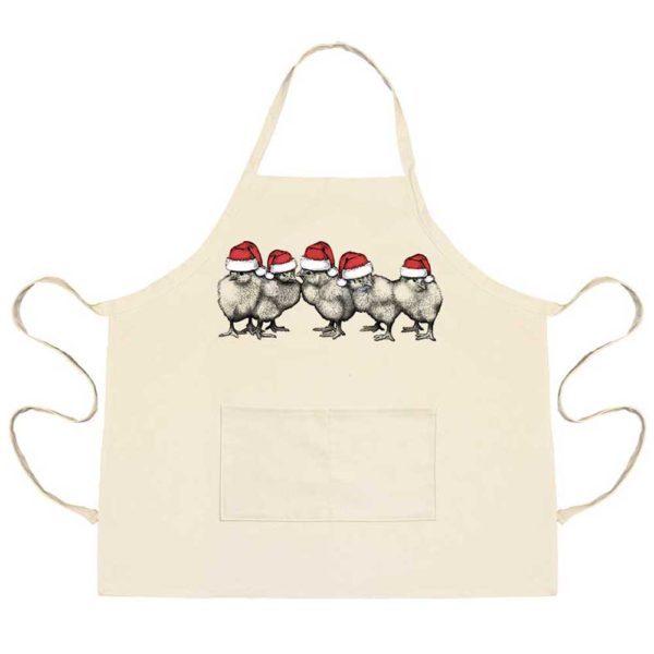 Santa Chicks Apron with Pockets