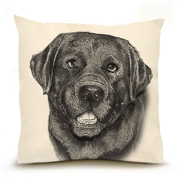 Black Lab #2 Large Pillow