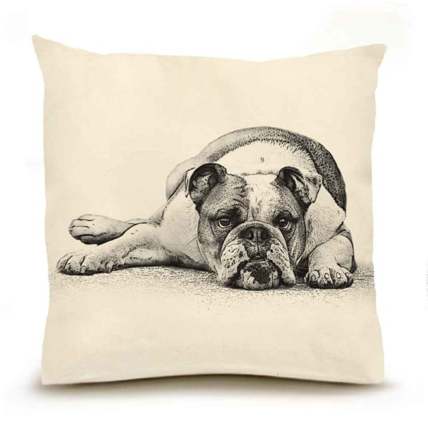 Bulldog #2 Large Pillow