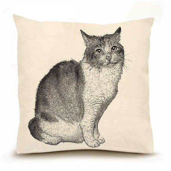 Cat Large Pillow