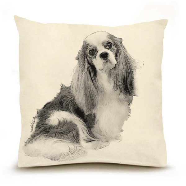 King Charles Cavalier Large Pillow