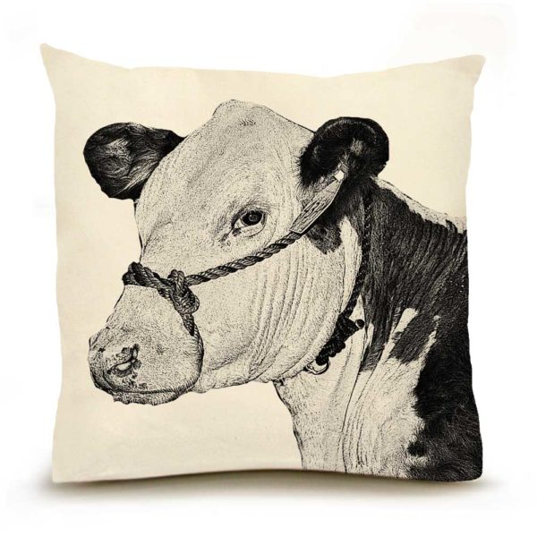Cow #3 Large Pillow
