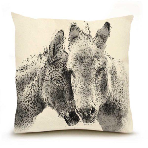Donkeys Large PIllow