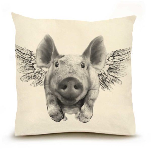 Flying PIg Large PIllow