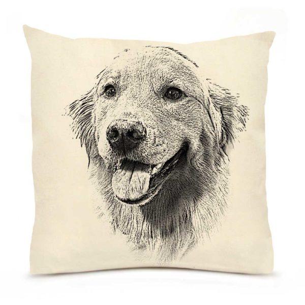 Golden Retriever #1 Large Pillow