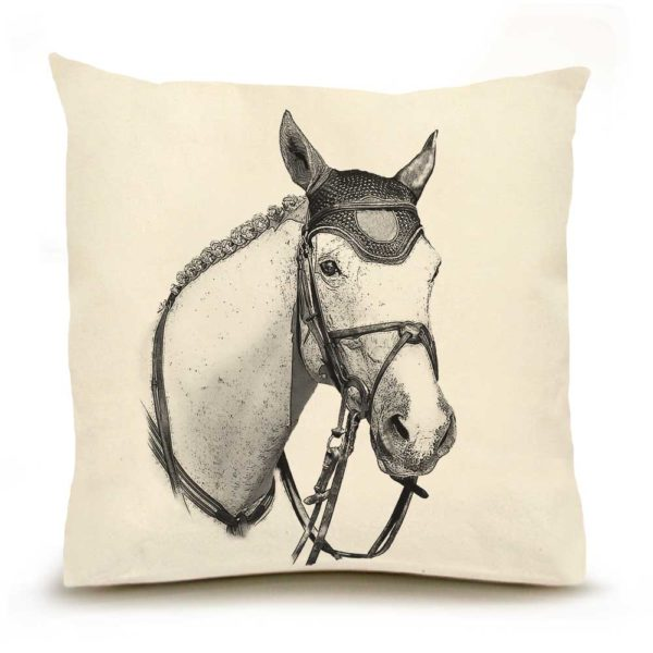 Horse #3 Large Pillow