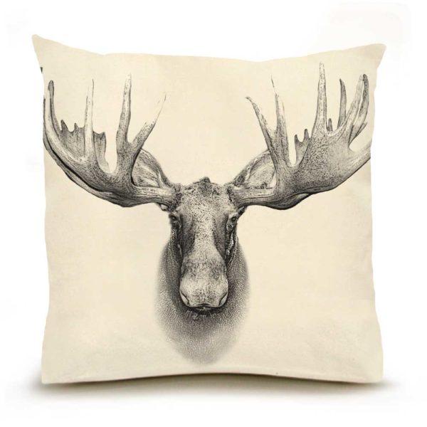 Moose #2 Large Pillow