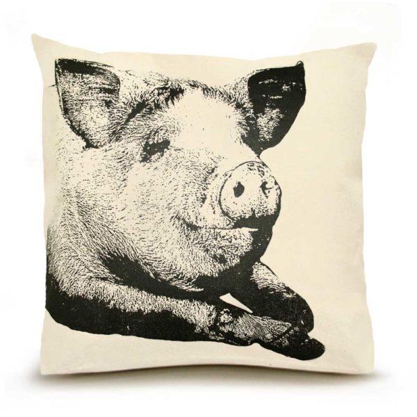 Pig #1 Large Pillow