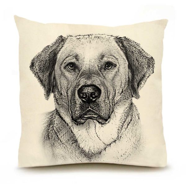 Yellow Lab #2 Large Pillow