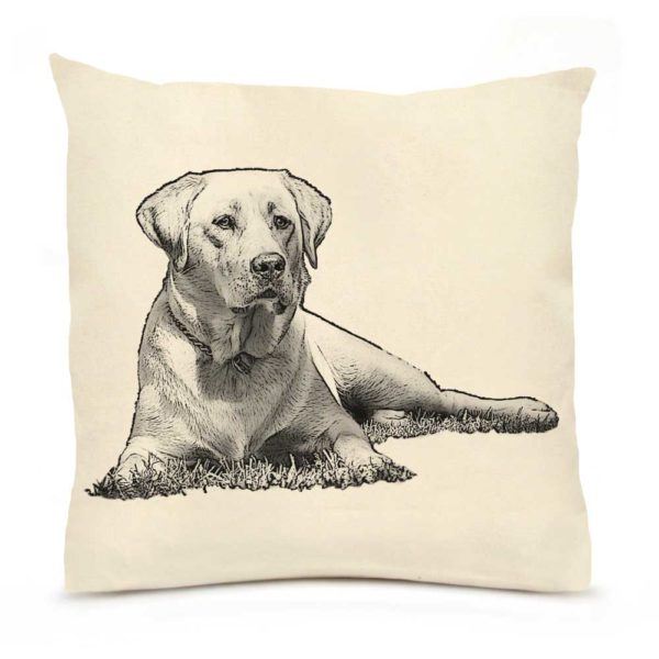 Yellow Lab #1 Large Pillow