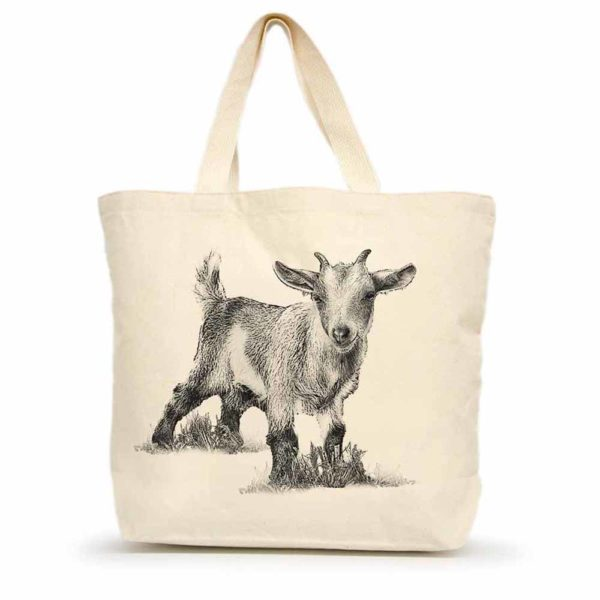 Baby Goat #3 Large Tote