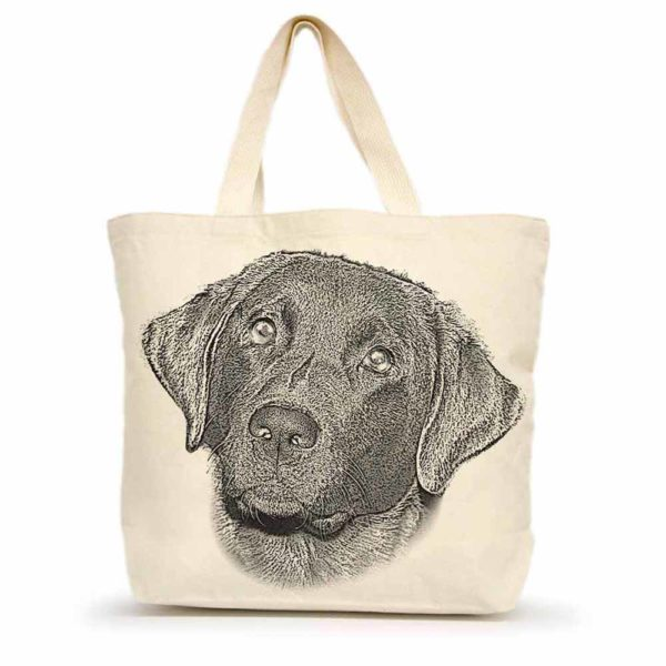 Black Lab #1 Large tote
