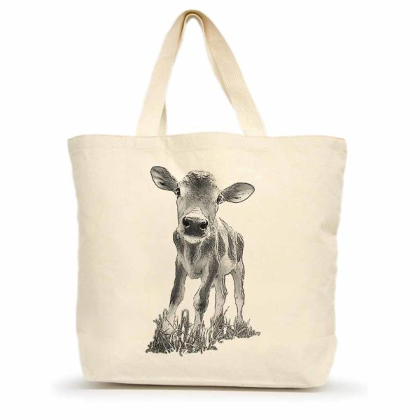 "Baby Cow ""Cowboy"" Large Tote"