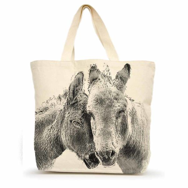Donkeys Large Tote