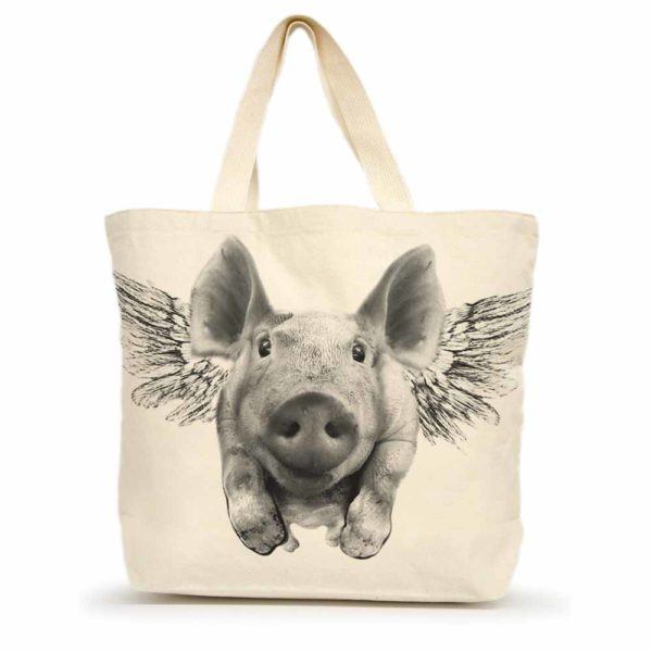 Flying Pig Large Tote