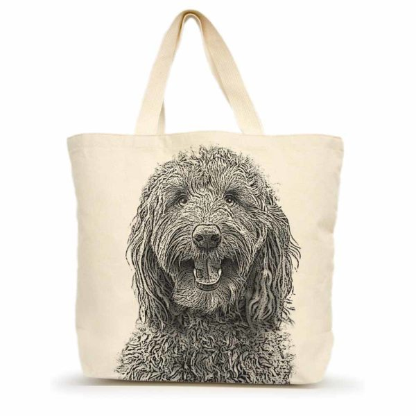 Labradoodle Large Tote