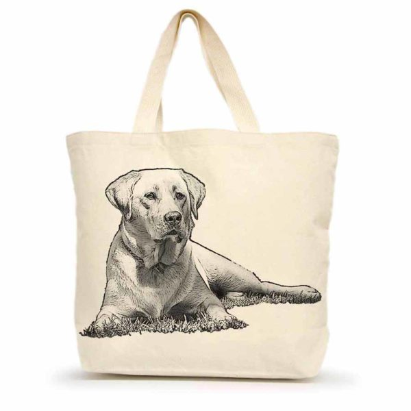 Yellow Lab #1 Large Tote
