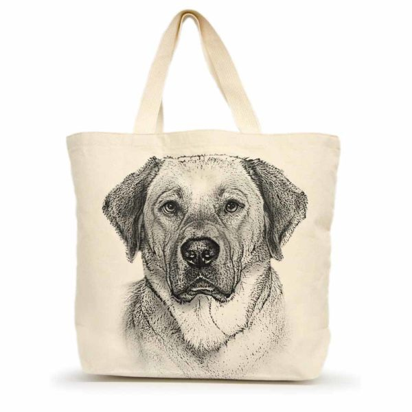 Yellow Lab #2 Large Tote