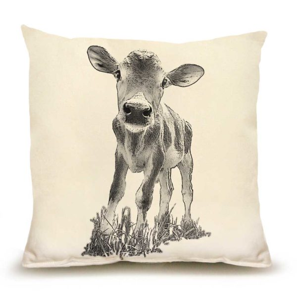 "Baby Cow ""Cowboy"" Medium Pillow"