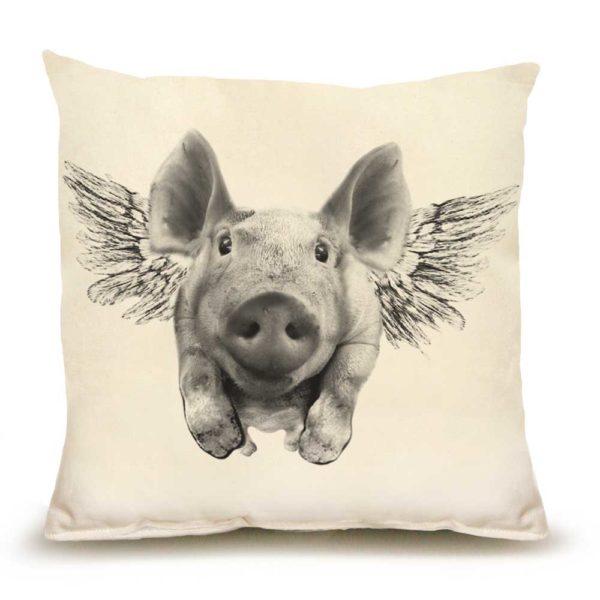 Flying Pig Medium Pillow