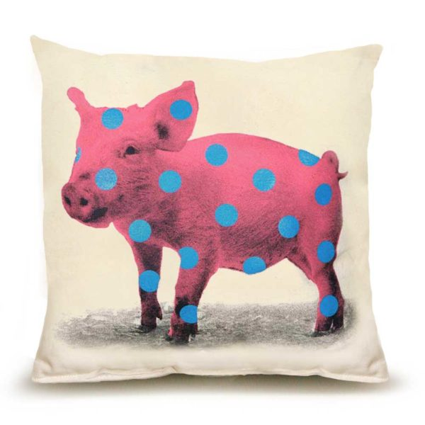 Polka Dot Pig Medium Pillow