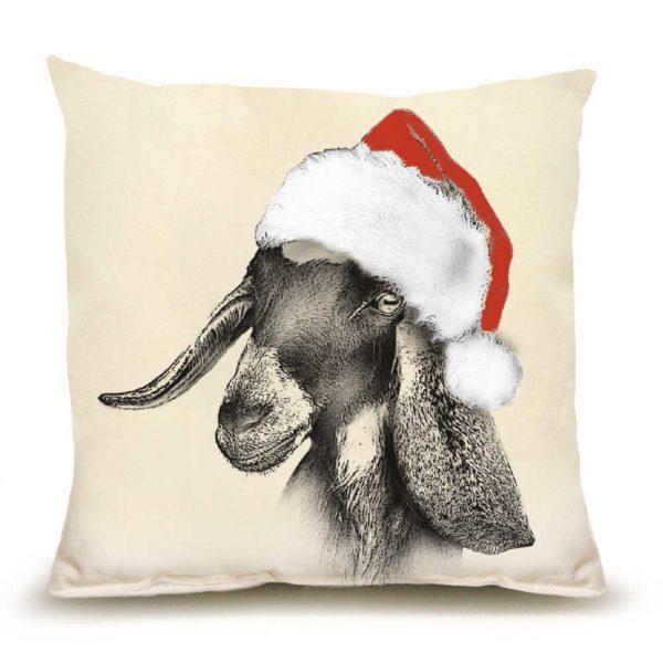 Santa Goat #2 Medium Pillow