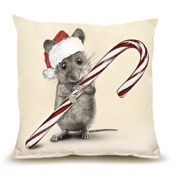 Santa Mouse #2 Medium Pillow