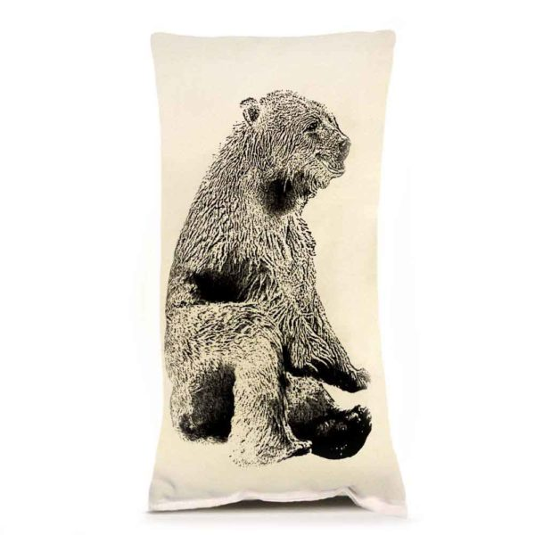 Bear Sitting Small Pillow