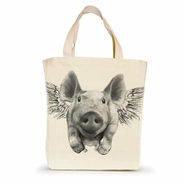 Flying Pig Small Tote