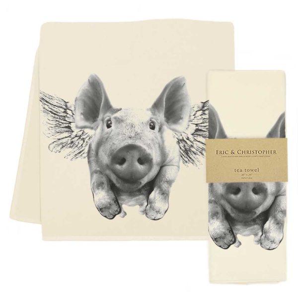 Flying Pig Tea Towel