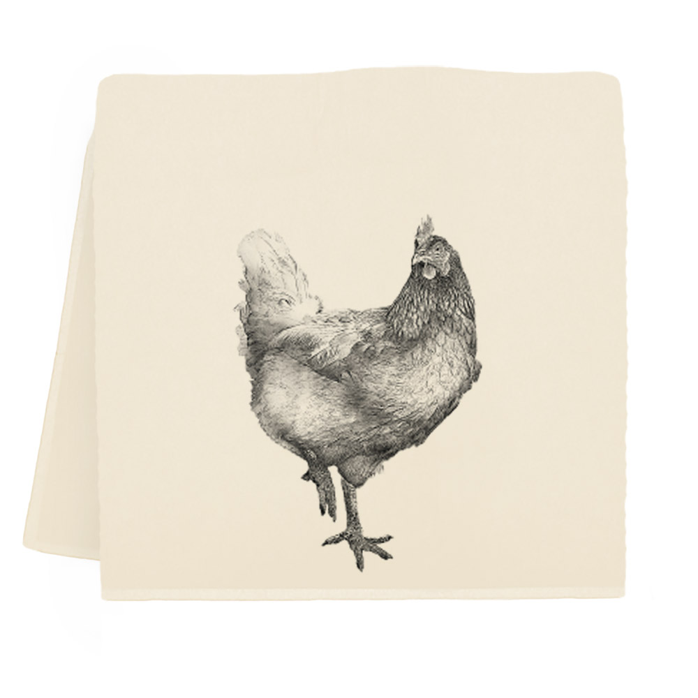 Hen #2 Tea Towel