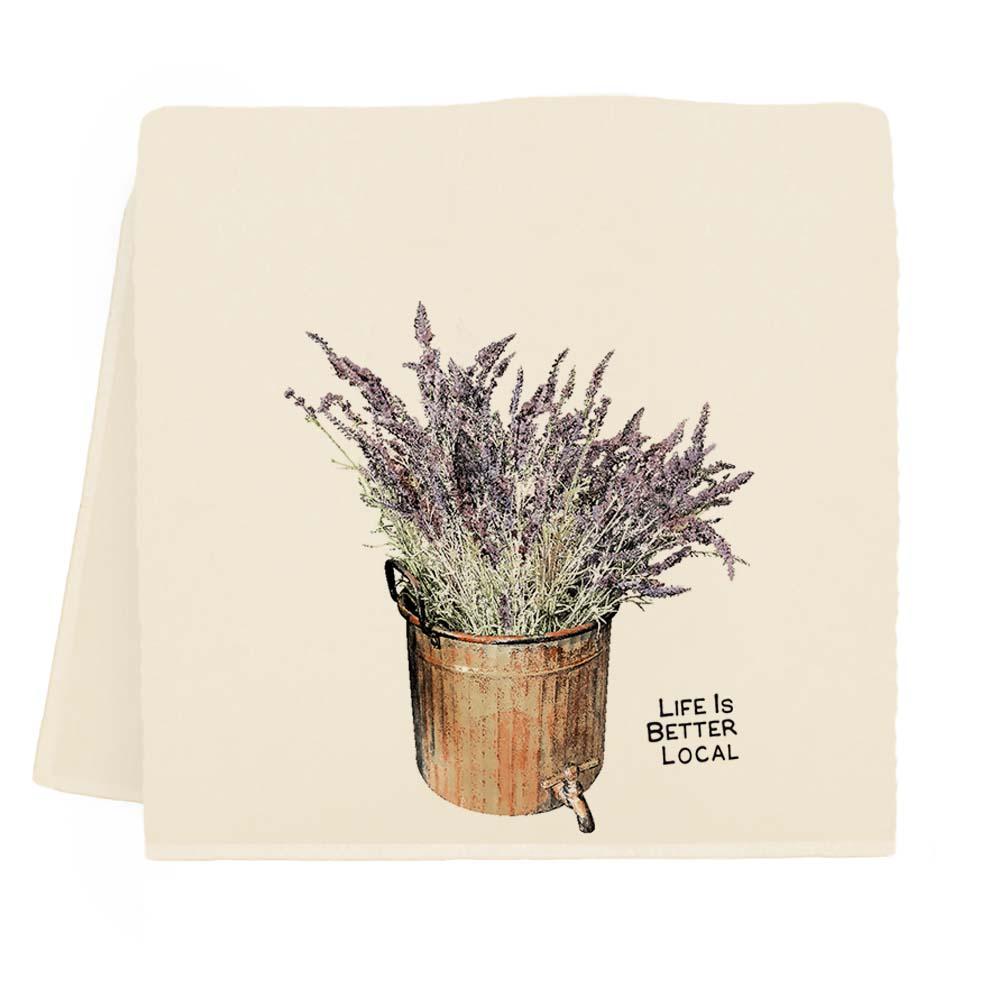 Lavender LIBL Tea Towel