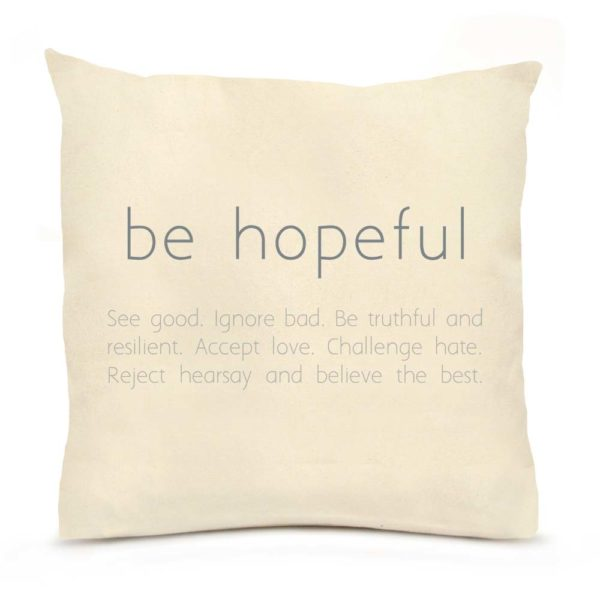 Be Hopeful Verse 2 Large Pillow