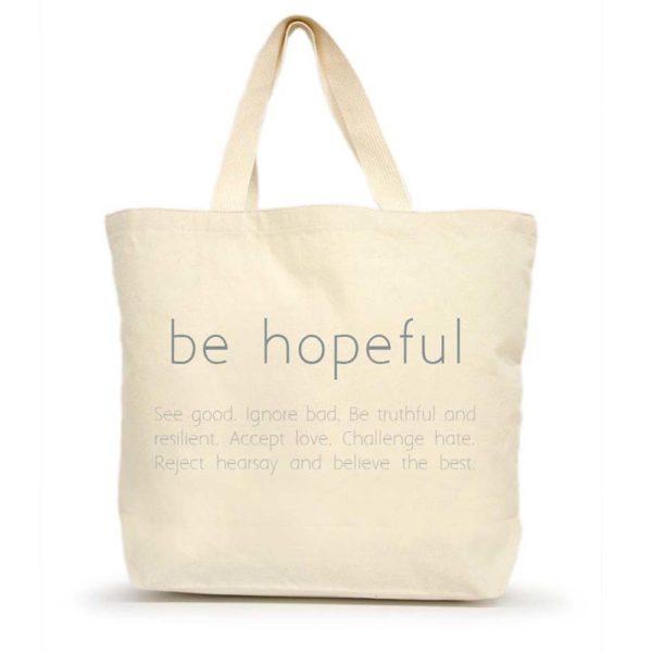 Be Hopeful Version 2 Large Tote