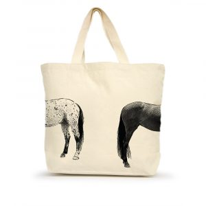 Kissing Horses Large Tote Back
