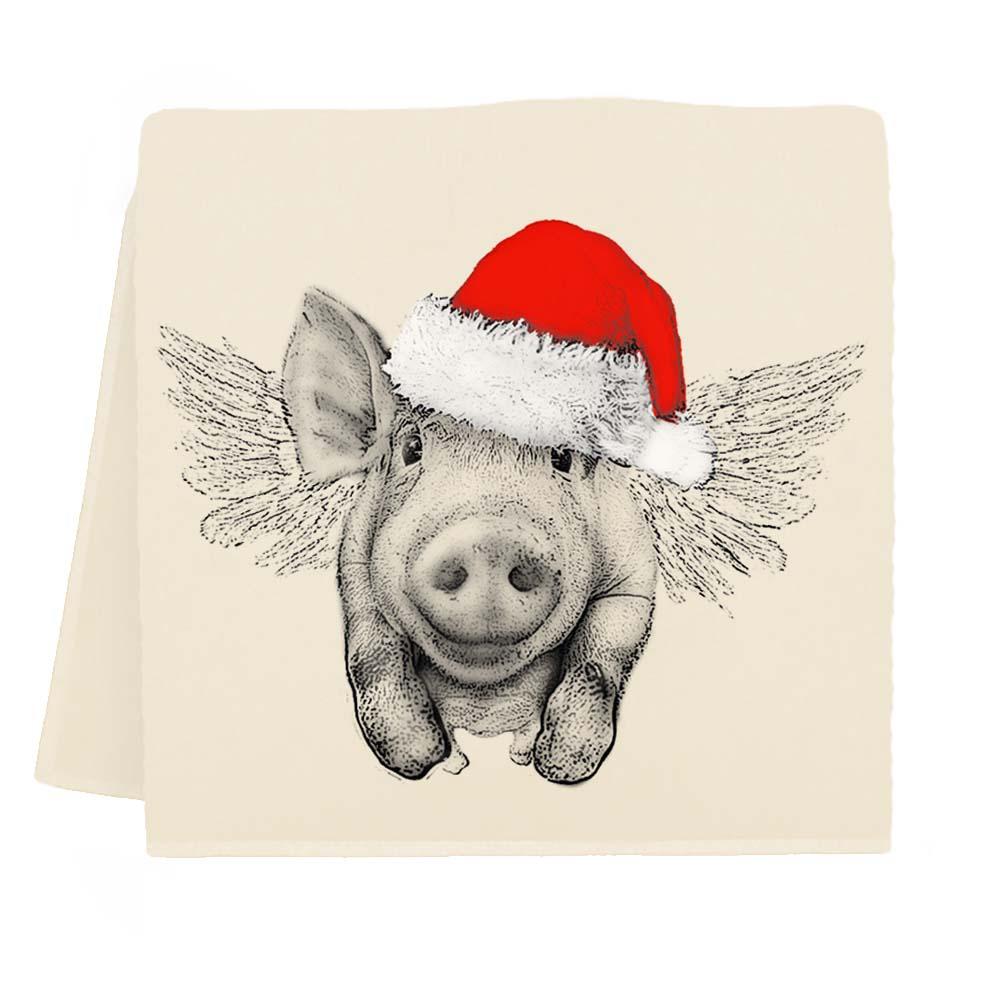 Santa Flying Pig