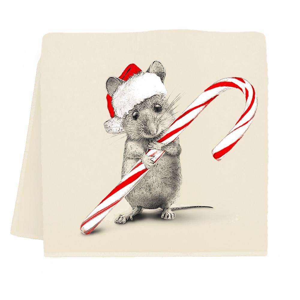 Santa Mouse #2 Tea Towel