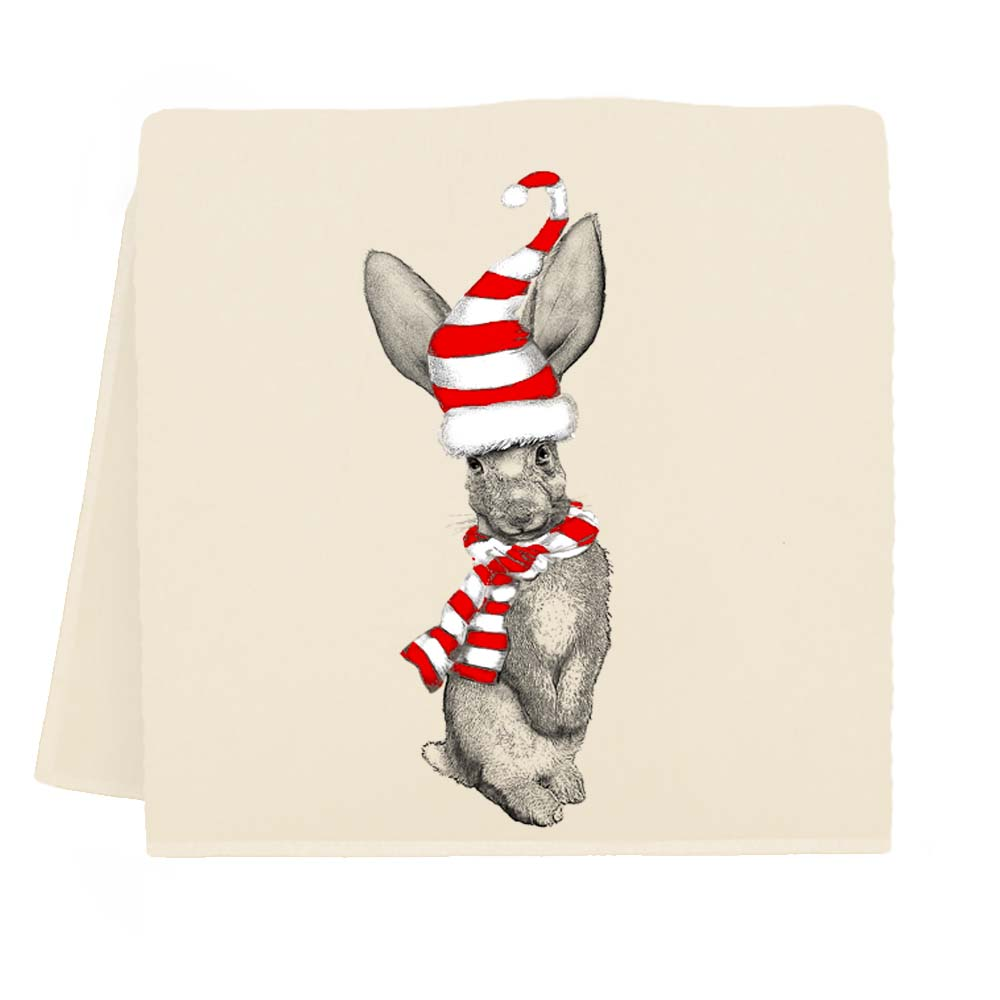 Winter Bunny Tea Towel