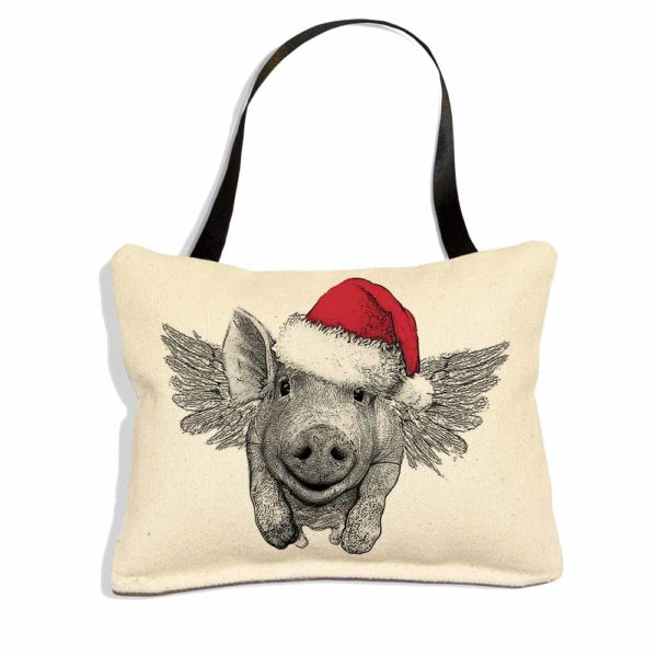 EandC_ORN_Santa Flying Pig_Product Shot