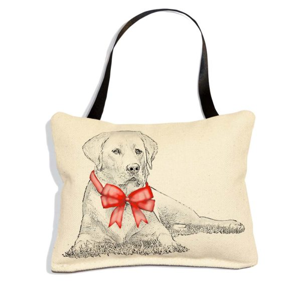 Yellow Lab with Ribbon Ornament