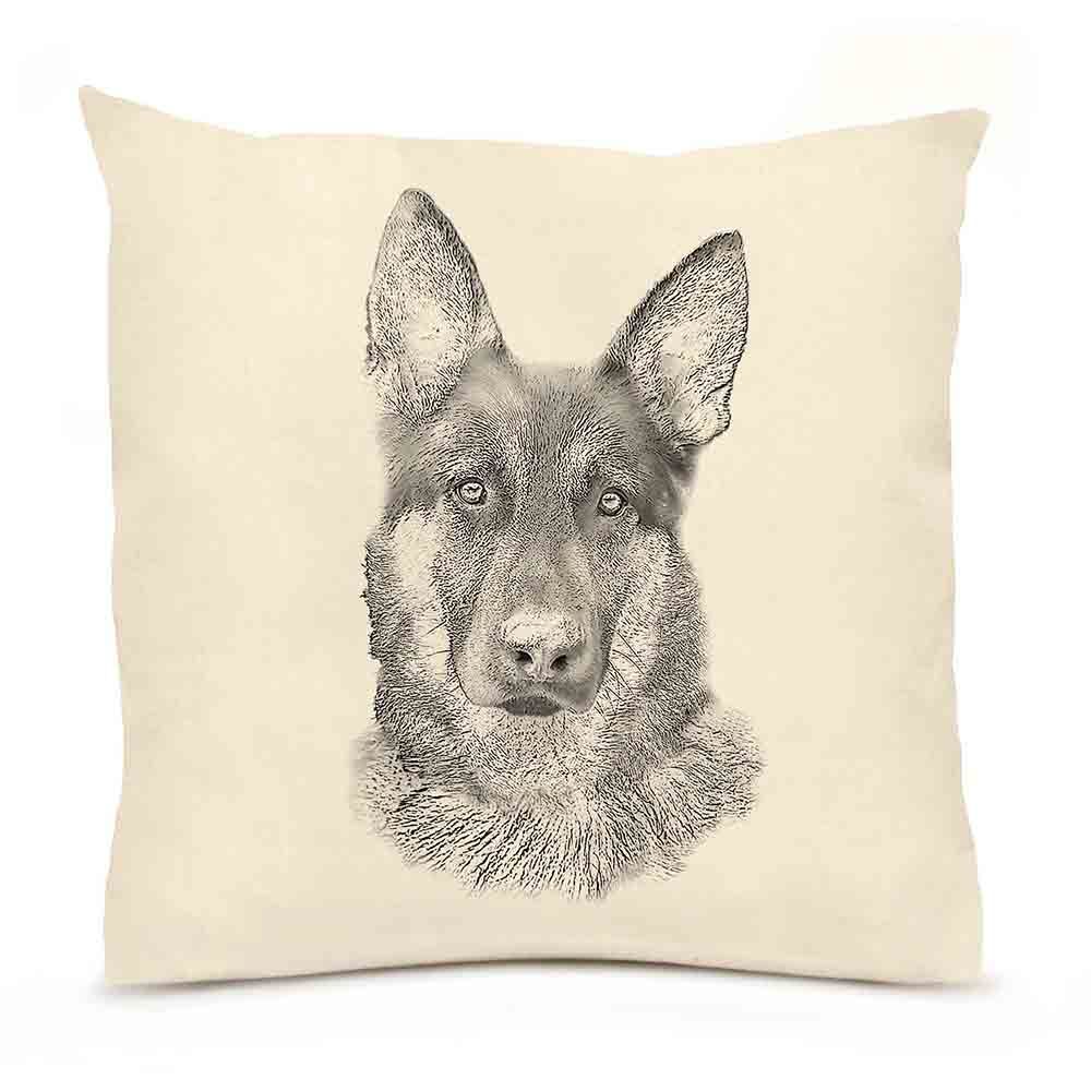 German Shepherd Large Pillow