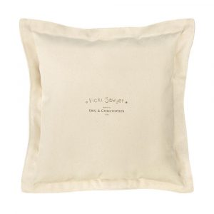 Vicki Sawyer square pillow back