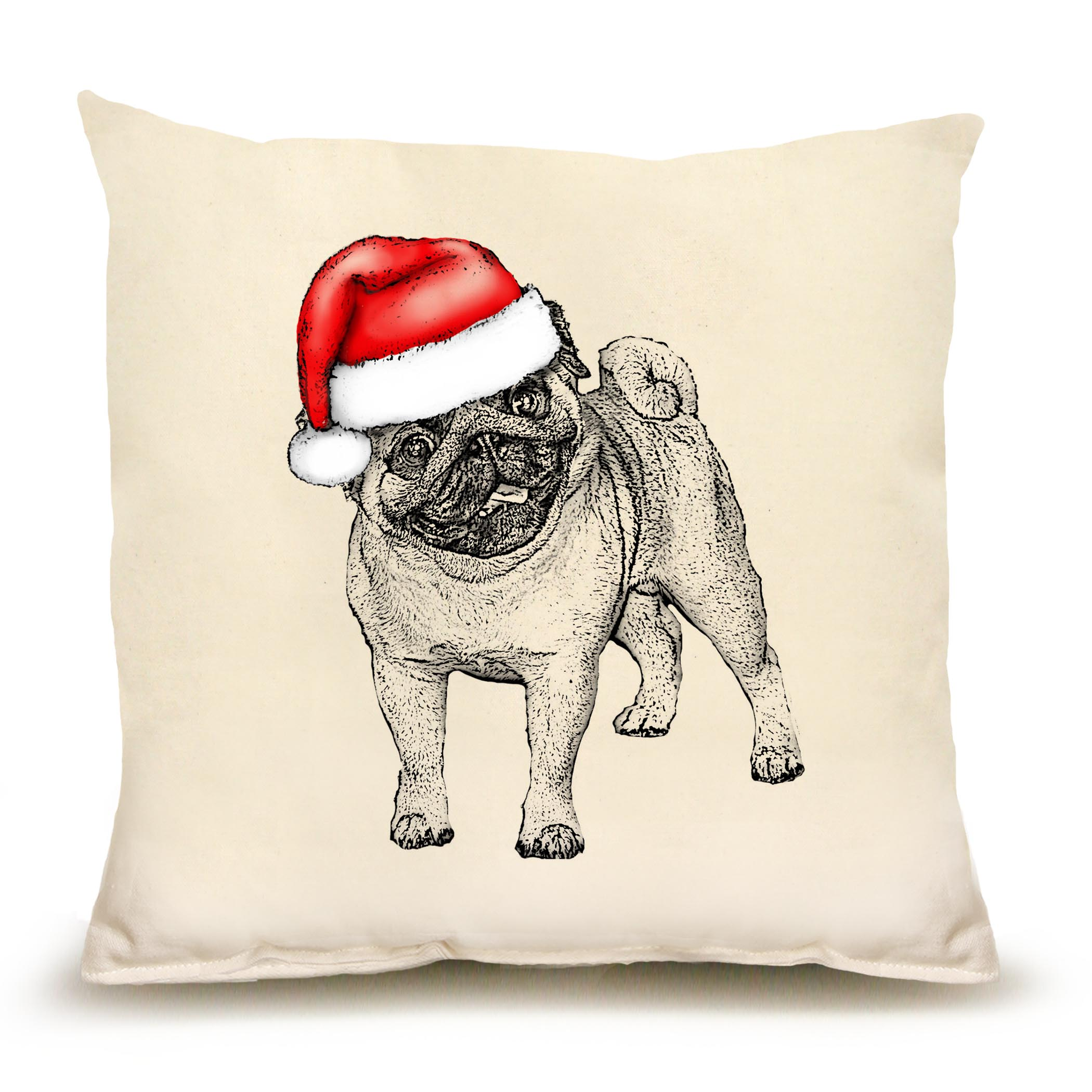 Santa Pug Medium Pillow