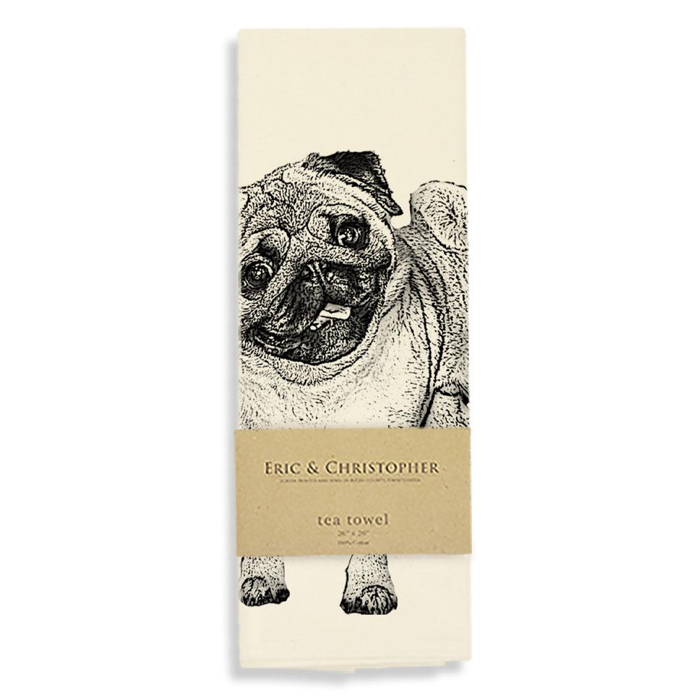 Pug 2 Tea Towel