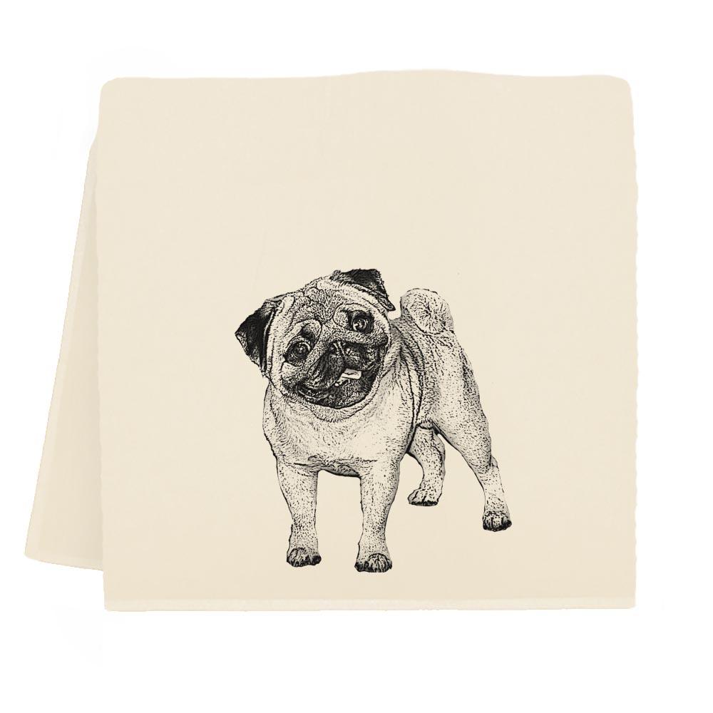 Pug #2 Tea Towel